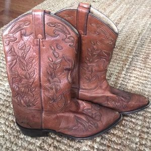 Rare Frye Billy Overlay Pull On Boots Size 11